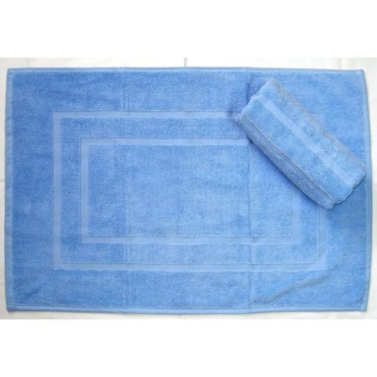 Kúpeľňová predložka froté EMA bledo modrá