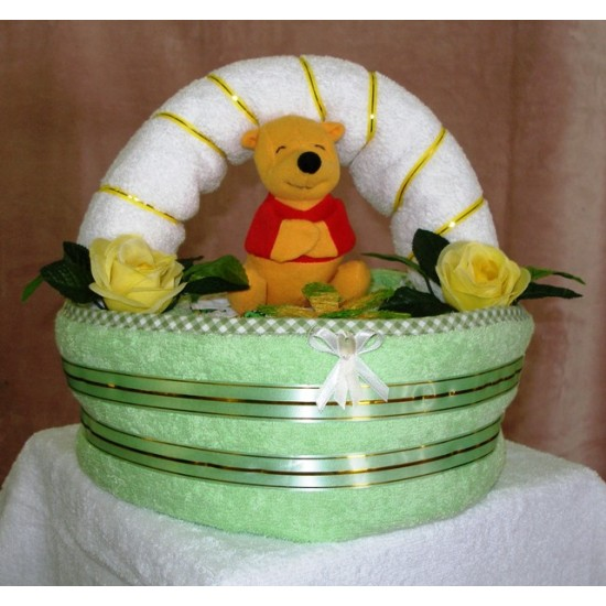 Košík Detský zelený