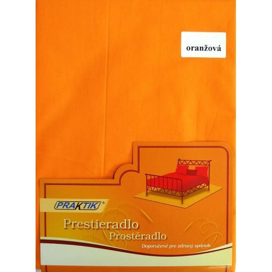 Prestieradlo BAVLNA 140x240 oranžová
